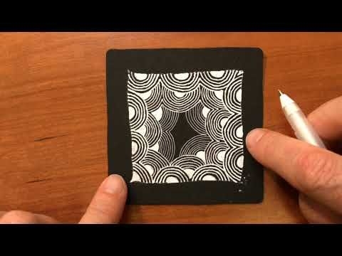 (71) Zentangle® Project Pack #01 - Crescent Moon - YouTube