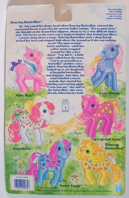 Generation One G1 vintage 1980's My Little Pony Twice as Fancy Pony Dancing Butterflies pegasus new on card by seller serena151. #mlpmib #mylittlepony #g1mlp #taf #twiceasfancy