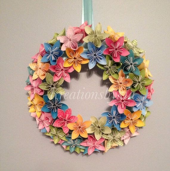 Spring Bloom  Origami/Kusudama Paper Flower by kreationsbykia, $55.99