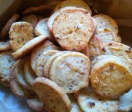 Rezept Käseplätzchen mit Röstzwiebeln von jessie911 - Rezept der Kategorie Backen herzhaft