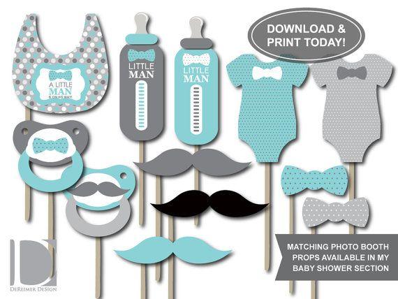 Little Man Baby Shower Invitation Onesie Bow Tie by DeReimerDeSign