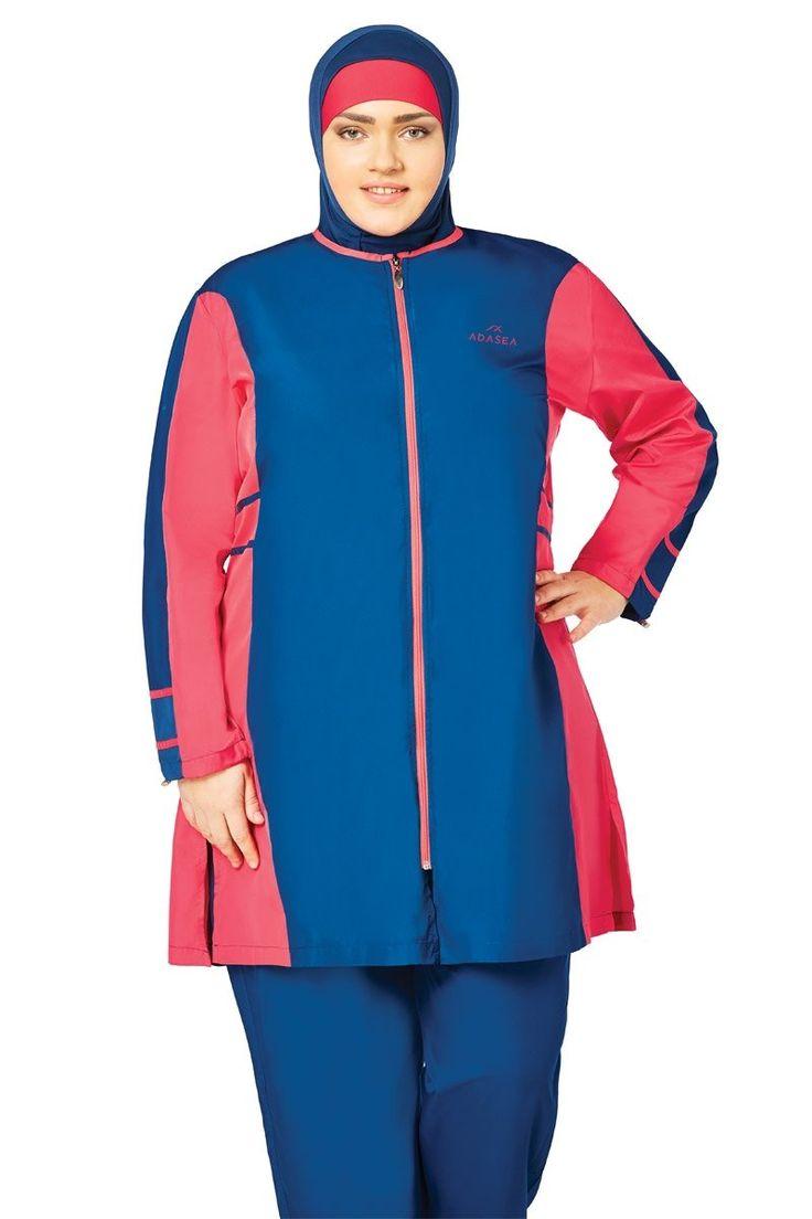 What a beautiful swimsuit with Blue & Rose color    Code : 1065  Fabric Info: 20% Lycra, 80% Polyamide  #abaya #jilbab #muslimahwear #muslimah #muslim #hijabers #hijabfashion #Hijablooms #swimsuit
