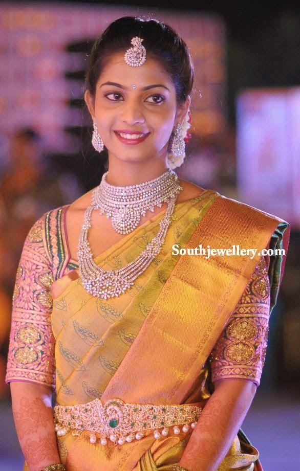 South Indian bride in diamond jewellery
