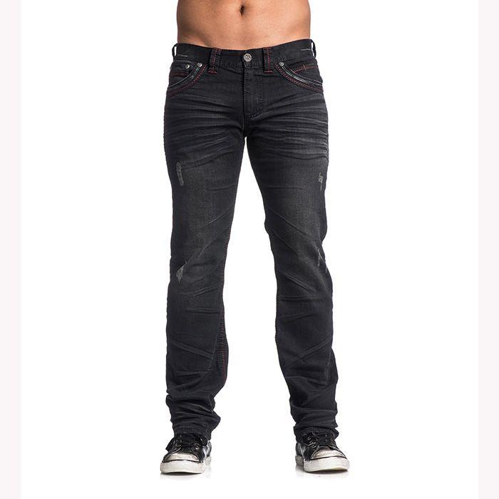 Pánské jeans Affliction Ace Fleur Springfield | MMA shop - vybavení pro bojové sporty a oblečení | Affliction - dámské a pánské značkové oblečení a doplňky