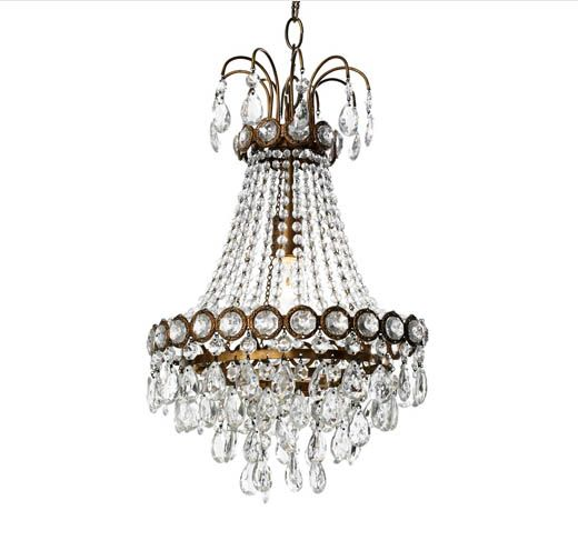 Simple and elegant 'Swedish' chandelier by Canopy Designs.