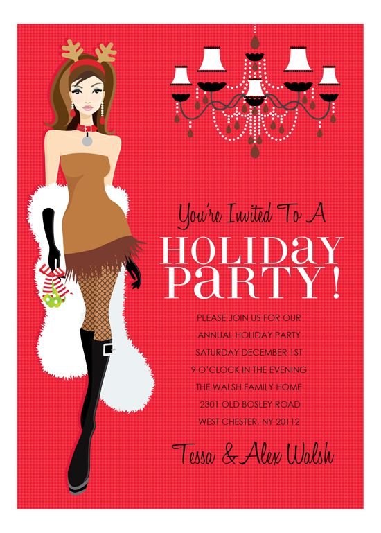 135 best Christmas Party Invitations images – Digital Party Invitations