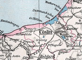 Der Landkreis Köslin (früher: Cöslin) war ein preußischer Landkreis in Pommern. Mit seinen Vorgängerkreisen Fürstenthum und Bublitz bestand er von 1816 bis 1945.     The district Koszalin (formerly Coslin) was a Prussian  county in Pomerania . With its predecessor circles principality and Bublitz it existed from 1816 to 1945.