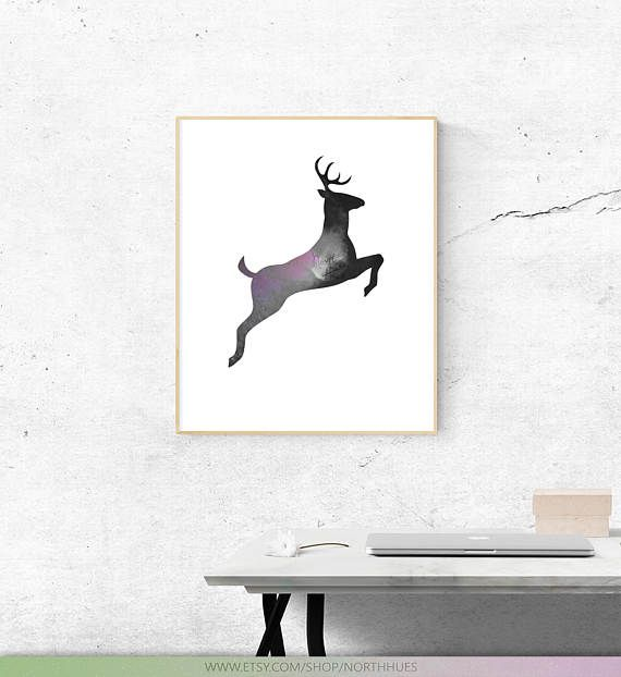 Galaxy Deer. Photo Edit  Digital Download