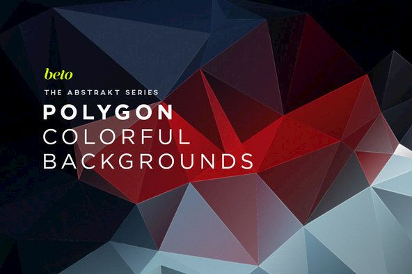 Polygon Abstract Backgrounds 09 By beto on YouWorkForThem.