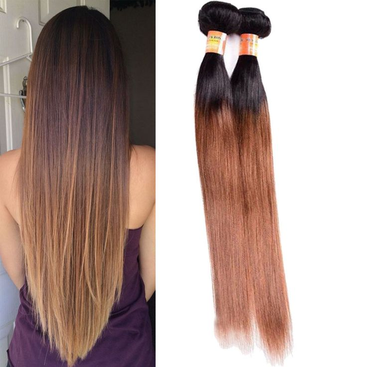 "3Bundles 22"" Real Human Hair Extension 150g 1B/30 Silky Straight Hair Weft Weave #Unbranded #StraightBundle"