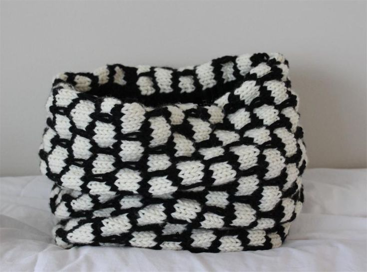 Black and white knitting the latest trend in knitwear