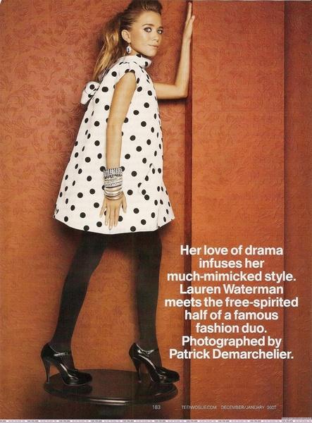 Mary-Kate Olsen - Teen Vogue: Styleedit Blog, Olsen Twins, Polka Dots, Dots Dramas, Ashley Olsen, Mary Kate Olsen, Mary K Olsen, Olsen Style, Maryk Olsen Teen Vogue
