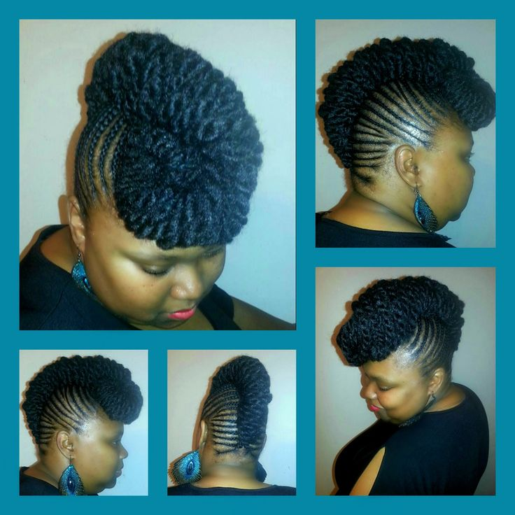 Cornrows styled into a French Row Up-do styled by Katrina Johnson.
