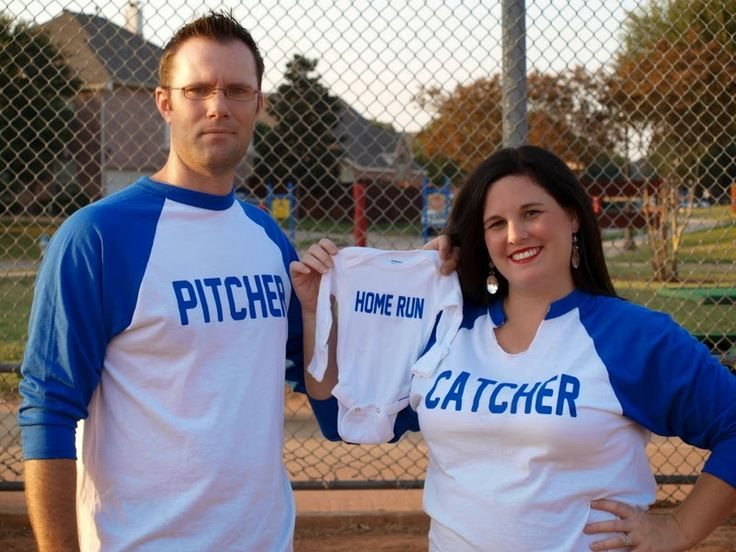 Our pregnancy announcement for Baby 4! Baby announcement Baseball Pregnancy