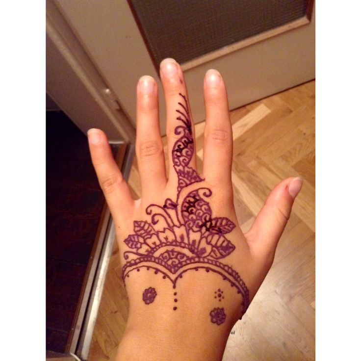 #simple #henna #hand #selfmade #easy