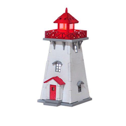 Wooden Model House Kits Series - LED Lighthouse