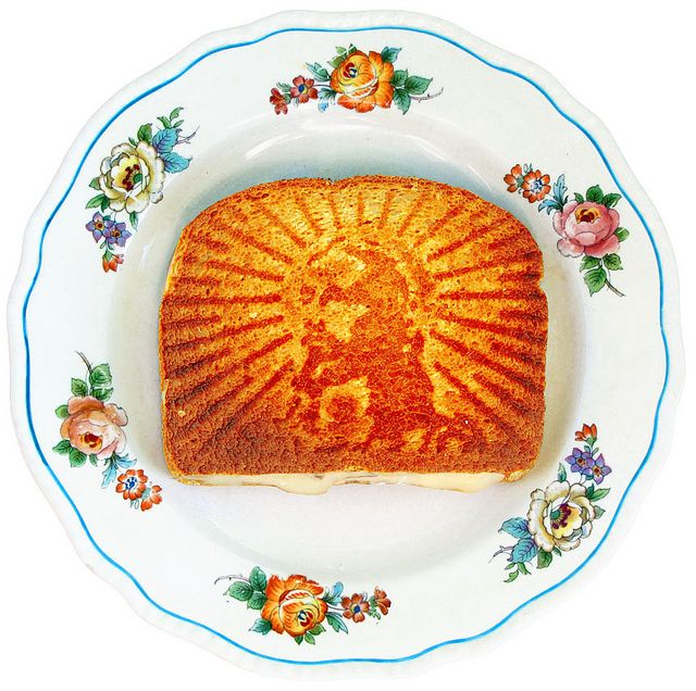 Grilled Cheesus, Sandwich Press Imprints Image of Jesus on Bread