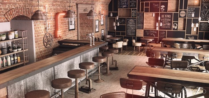 Bar D'arc, Timisoara 2013 - Vintage industrial interior ...