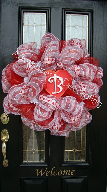 Great blog (Adventures in Decorating) Cute idea for Valentines Day