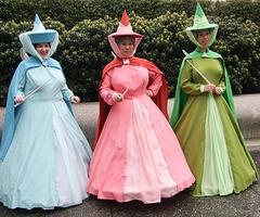FULL COSPLAY!! - COSPLAY: Merryweather + Flora + Fauna / Disney's...