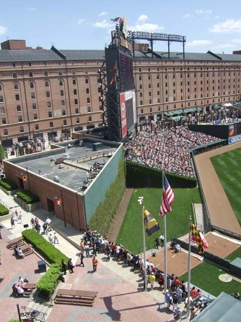 Camden Yards, home of the Baltimore Orioles