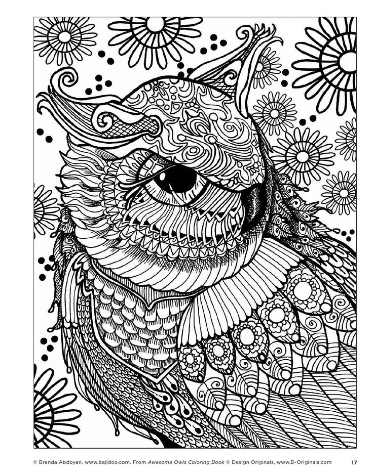 Magical Owl Coloring Pages