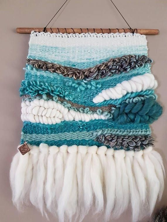 Check out this item in my Etsy shop https://www.etsy.com/ca/listing/568036825/woven-wall-hanging-teal-white-turqouise