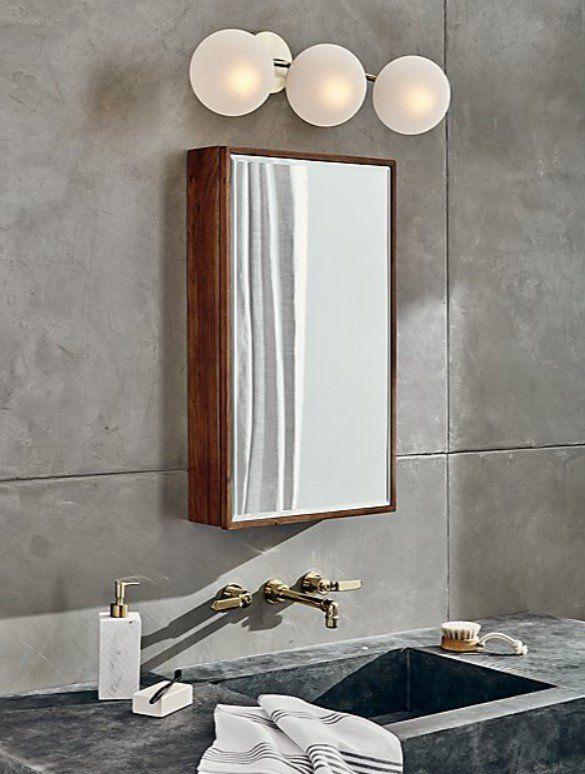 Acacia Medicine Cabinet Reviews Cb2 In 2020 Silver Side Table Small Bathroom Tiles Home Decor Mirrors