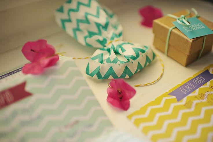 Grand 'souxe' Wedding, wedding invitation, beach, blue, yellow, box, chevron, syros | lafete