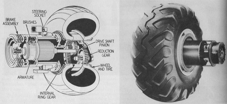 1956 Cut away of RG LeTourneau's Electric Wheel R.G.'s
