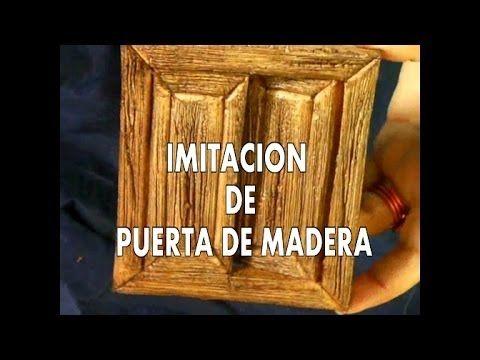 DIY PUERTA DE IMITACIÓN EN MADERA PARA EL BELEN CASA DE MUÑECAS -