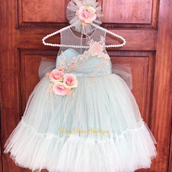 Red Flower Girls Dress Pageant Wedding Party Baby Rhinestones Christmas Easter
