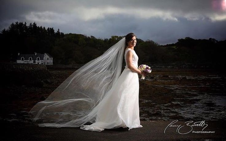 amazing photo of #whiteroombride Charlene at the foot of Croagh Patrick, Co. Mayo