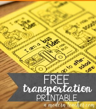 Free download!  Manage transportation the first few weeks of school with these passes.  Just print on bright colored paper from Astrobrights.  Put in a badge holder or make into stickers.  DONE. For more back to school management tools, check out the  Management Tools for Teachers in my shop.