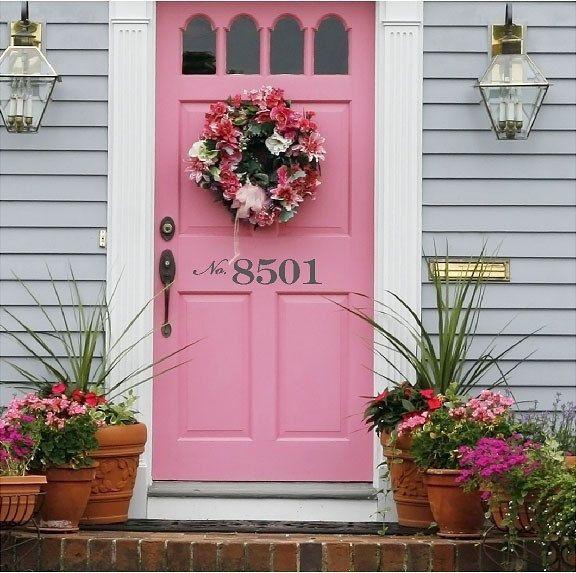 Front Door Number Decal. $10.00, via Etsy.