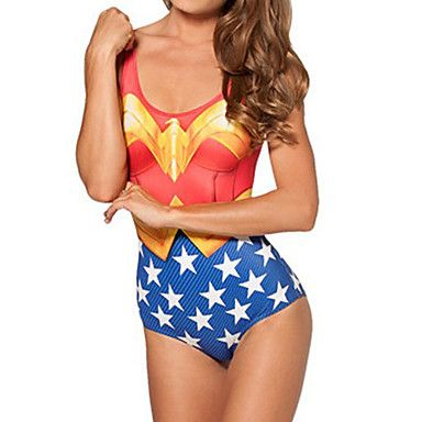 Wonder Woman costume da bagno delle donne Spandex - EUR € 14.84