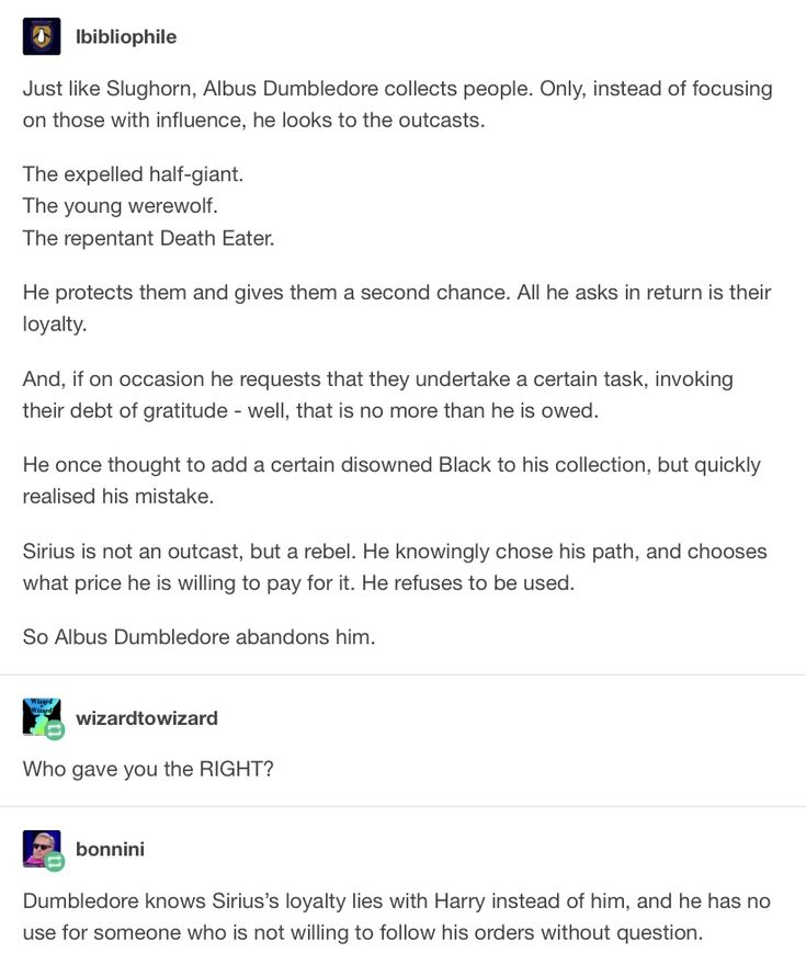 This FINALLY EXPLAINS why Dumbledore never gave Sirius a second chance when he gave Snape a second chance.