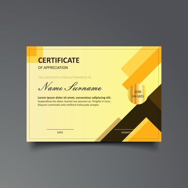 Certificate Template With Luxury And Modern Pattern Certificate Design Template Certificate Templates Certificate Design