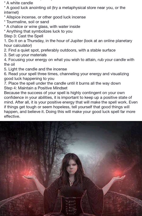 White black magic page 9 - Good Luck Spell  - Pinned by The Mystic's Emporium on Etsy