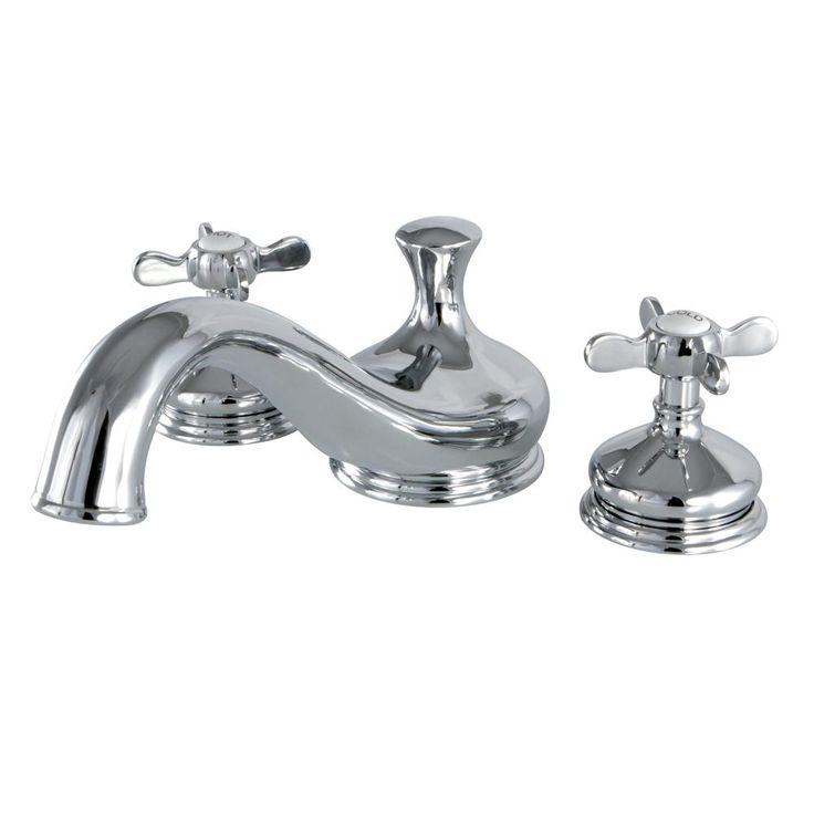 Kingston Brass Heritage Cross 2-Handle Deck Mount Roman Tub Faucet in