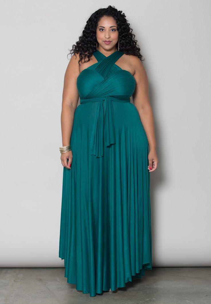 Plus size dress eternity maxi convertible dress for Bridesmaid dresses for november weddings