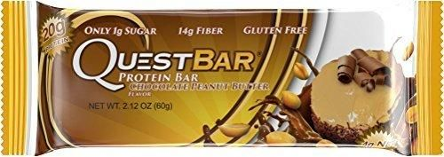 Quest Nutrition Protein Bar Chocolate Peanut Butter 20g Protein 2.1oz Bar 12 Count