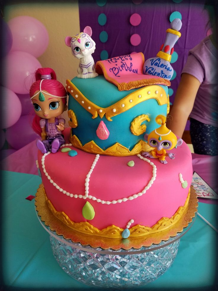 Shimmer and shine cake!