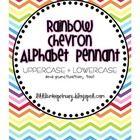Rainbow Chevron Alphabet Pennant