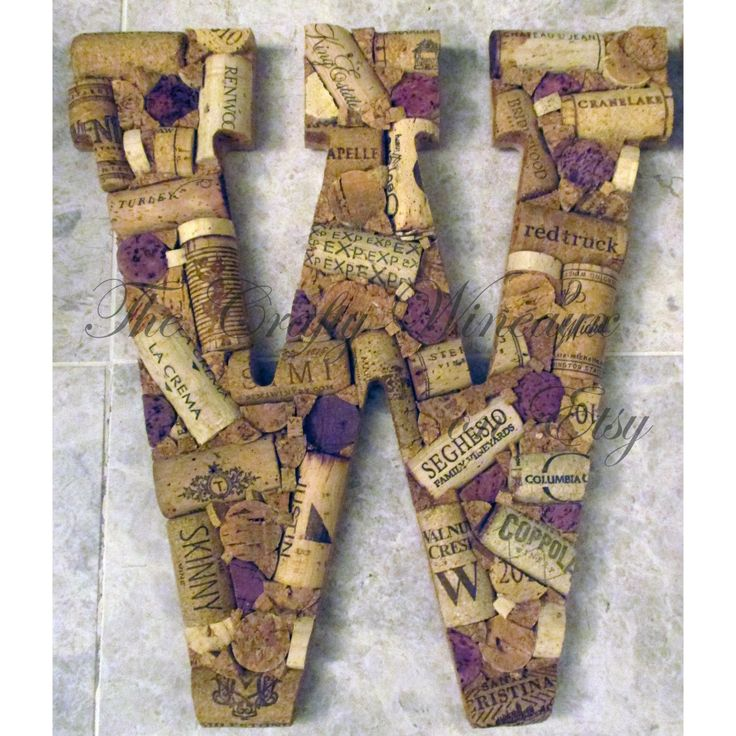 Just sold! Get your #Wine #Cork #Monogram #Letter by #TheCraftyWineaux today! Also on thecraftywineaux.com!