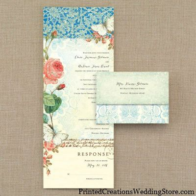 Charmant There Are Even Gold Foil Accents On The Vintage, Ombre Lace And Rose Design  Seal U0027n Send Wedding Invitation.