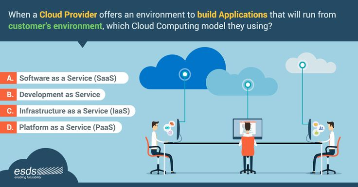 When a #CloudProvider offers an environment to build #Applications that will run from customer's environment, which #CloudComputing model they using? A.Software as a Service (#SaaS) B.Development as Service C.Infrastructure as a Service (#IaaS) D.Platform as a Service (#PaaS)