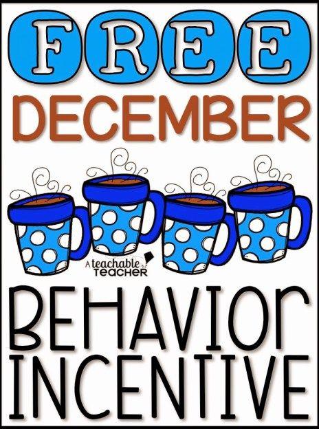 December Behavior Incentive {Free} - A Teachable Teacher