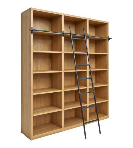 Camus Bibliothèque en bois avec son échelle (www.habitat.fr)