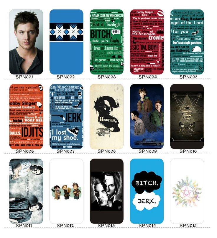 Supernatural Jensen Dean Sam I phone 4/4s/5/5s/5c case cover 34 styles